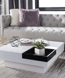 black and white centre table
