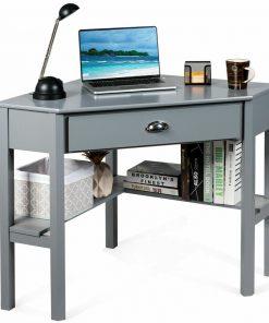 grey ash computer desk