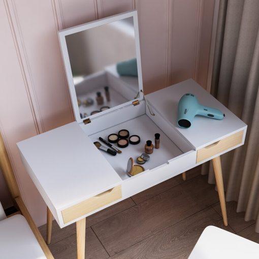 white dresser dressing mirror