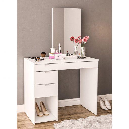 all white dressing mirror