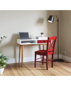 Computer desk with storage Chair RED