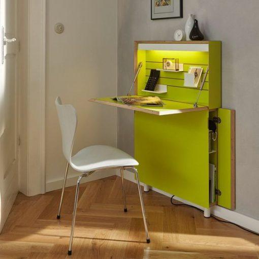green computer desk