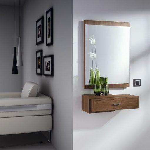 brown bedroom dressing mirror