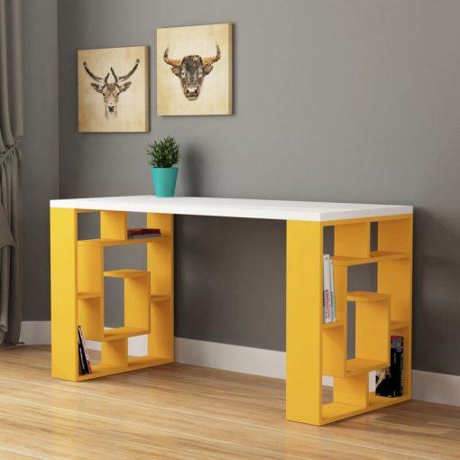 yellow design computer desk