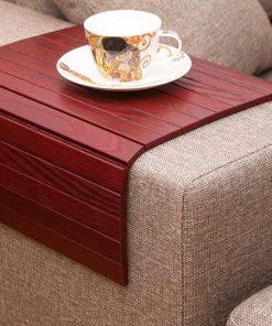 wine red cover sofa tray lip tray