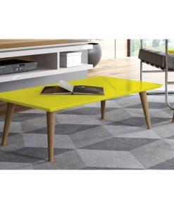 Yellow centre center table