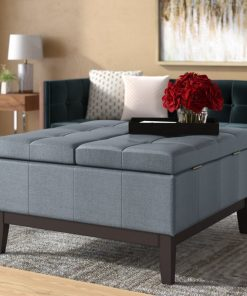 simple cute ottoman with storage
