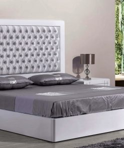 king size white bed