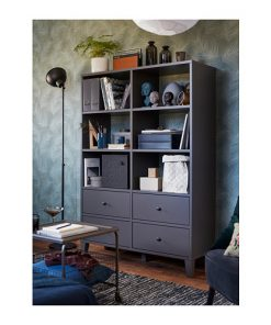 GREY LARGE STORAGE CABINET FOR OFFICE HOME WARDROBE