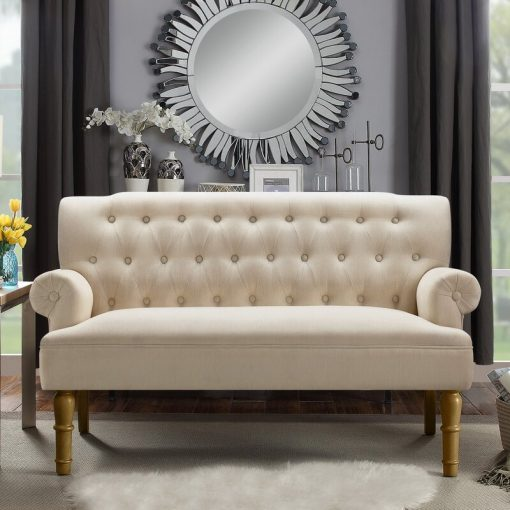 cream color couch arm chair 3 seater