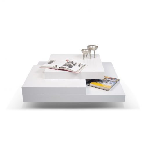 all white centre center table