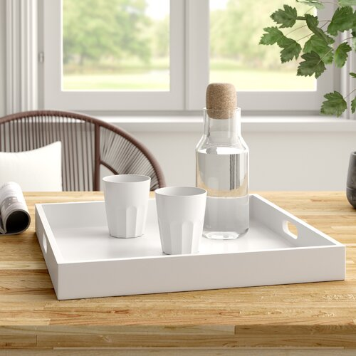all white serving tray