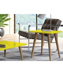 yellow side coffee table