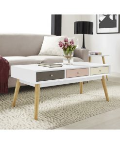 white traditional desk coffee centre table