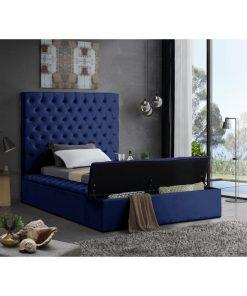 blue queen adult bed