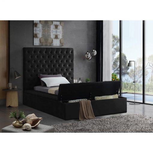 black queen adult bed