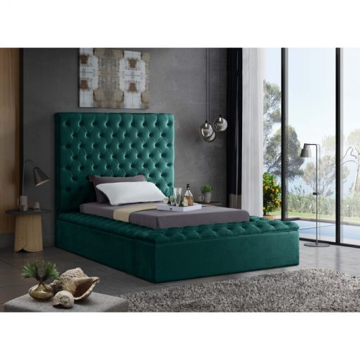 green queen adult bed