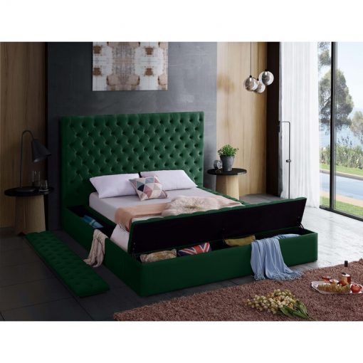 green adult bed
