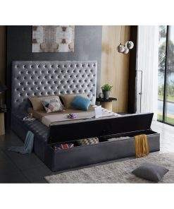 grey ash king size bed