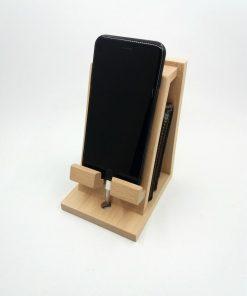 brown phone smartphone holder wooden