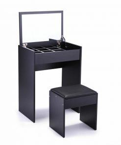 black makeup table jewelry storage box