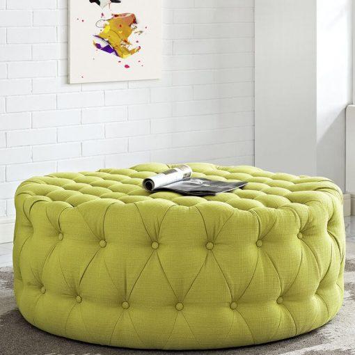 lemon green yellow ottoman centre table