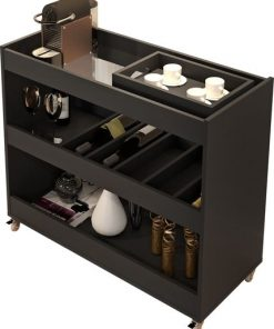 wine rack bar library stand