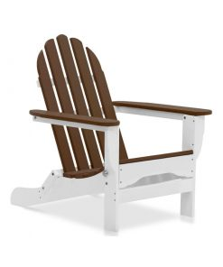 Brown white outdoor chair