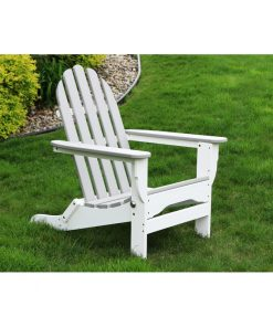 grey and white outdoor chair