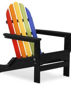 multicoloured outdoor chair rainbow black