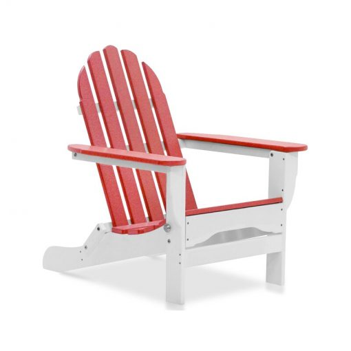pink white outdoor chair