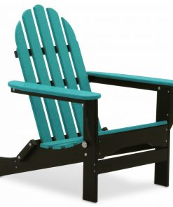 blue and black outdoor chair
