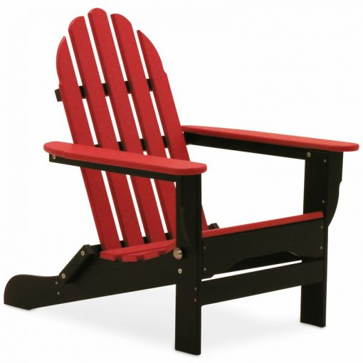 red and black outdoor chair