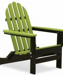 lemon green black outdoor chair