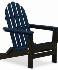 deep blue navy black outdoor chair