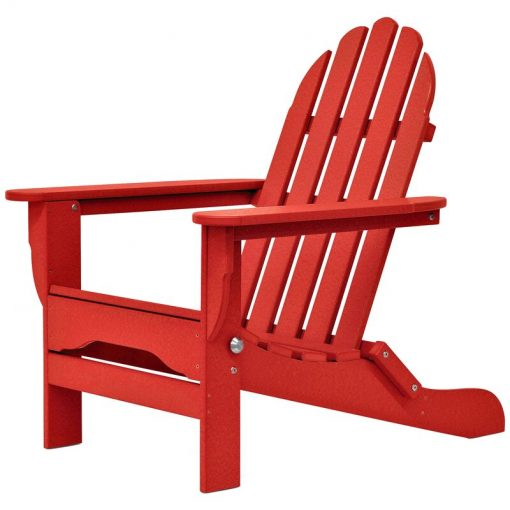 red outdoor chair