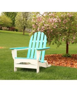 blue cyan white outdoor furnitore chair