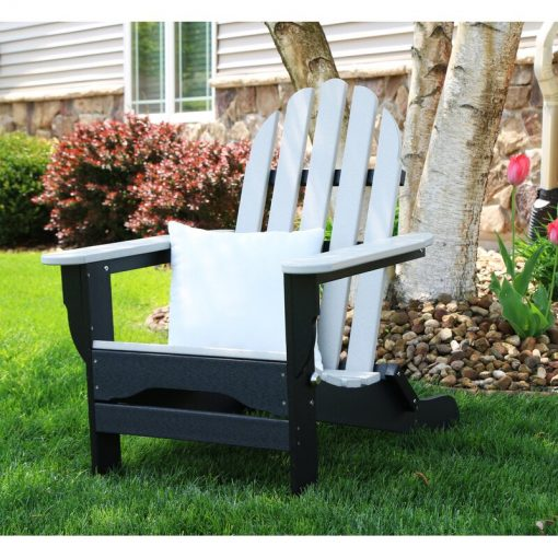 black and white outdoor chair
