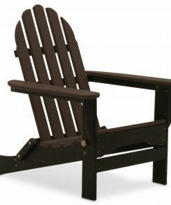 brown and black outdoor chair