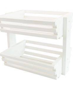 white kitchen organizer