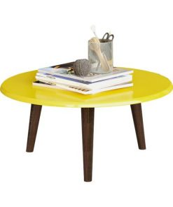 yellow center table