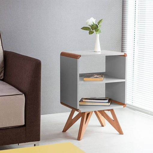 ash gray night stand bedsize