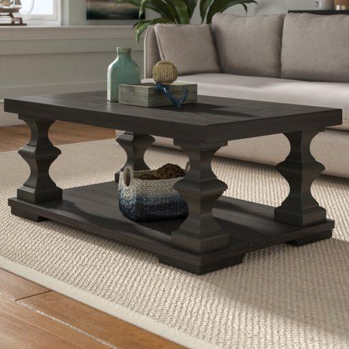 black center centre table