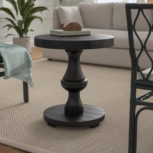 round black end side table