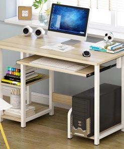 cream computer desk