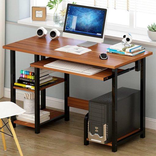 walnut brown computer desk