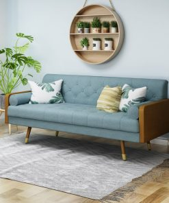 Blue couch sofa