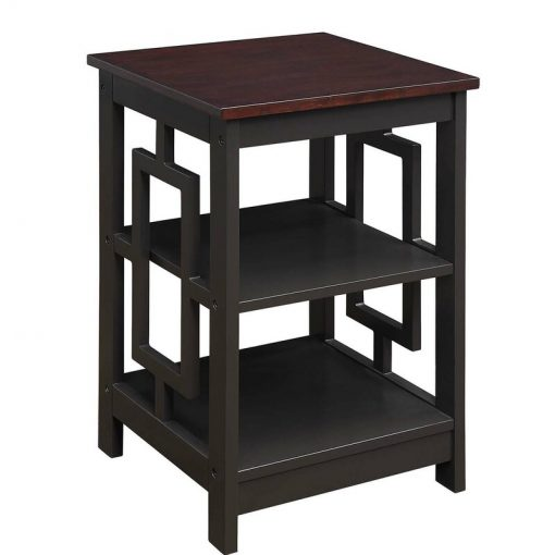 coffee brown side end table