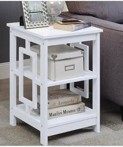white end side table