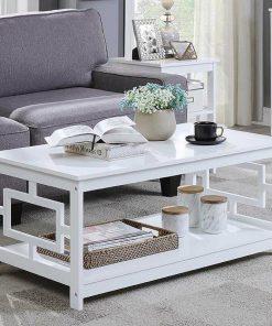 All white center centre table